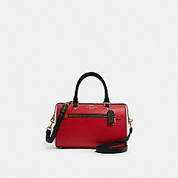 ROWAN SATCHEL IN COLORBLOCK - F82129 - IM/BRIGHT RED MULTI