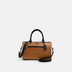 ROWAN SATCHEL IN COLORBLOCK - F82129 - QB/LIGHT SADDLE MULTI
