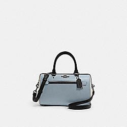 ROWAN SATCHEL IN COLORBLOCK - F82129 - SV/PALE BLUE MULTI