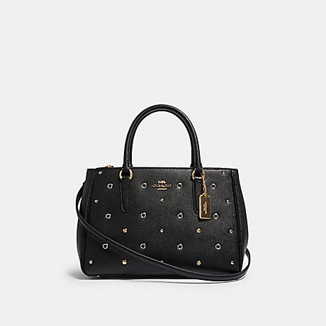 COACH F82131 SURREY CARRYALL WITH GROMMETS IM/BLACK