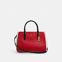 COACH F82132 - SURREY CARRYALL IN COLORBLOCK IM/BRIGHT RED MULTI
