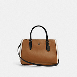 COACH F82132 Surrey Carryall In Colorblock QB/LIGHT SADDLE MULTI