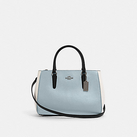 COACH F82132 SURREY CARRYALL IN COLORBLOCK SV/PALE-BLUE-MULTI