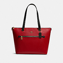GALLERY TOTE IN COLORBLOCK - F82133 - IM/BRIGHT RED MULTI