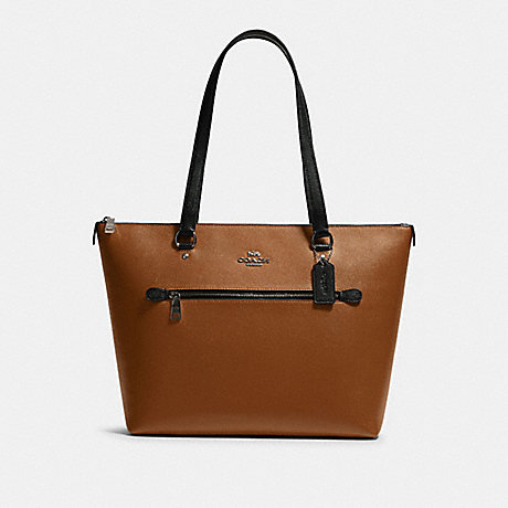 COACH F82133 GALLERY TOTE IN COLORBLOCK QB/LIGHT-SADDLE-MULTI