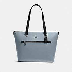 GALLERY TOTE IN COLORBLOCK - F82133 - SV/PALE BLUE MULTI