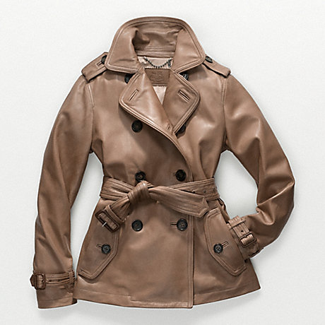 COACH f82384 ALEXIS LEATHER TRENCH