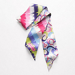 COACH F82764 Ikat Signature Ponytail Scarf