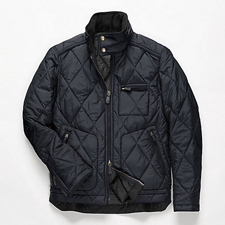 Coach F82778 Bowery Quilted Jacket Navy Coach Men