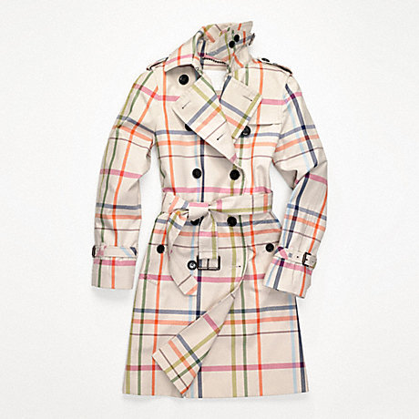 COACH f82788 FULL LENGTH TATTERSAL TRENCH