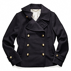 EMMANUELLE WOOL PEACOAT - f82790 - INK