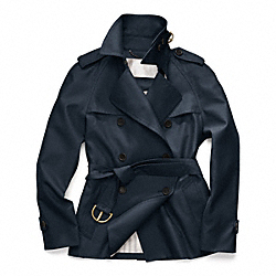 CLASSIC SHORT TRENCH - f82795 - INK