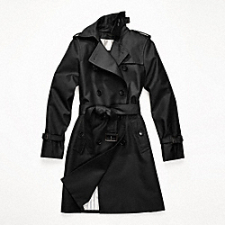 CLASSIC LONG TRENCH - f82804 - BLACK