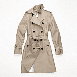 COACH CLASSIC LONG TRENCH - KHAKI - F82804