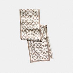 COACH F82844 Signature Metallic Knit Muffler  CAMEL/IVORY