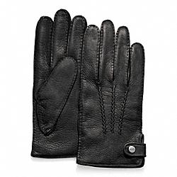 COACH F82867 Deerskin Glove BLACK