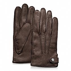COACH F82867 Deerskin Glove MAHOGANY