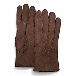 COACH F82868 Shearling Glove MAHOGANY