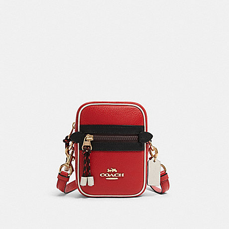 COACH F83267 VALE PHOEBE CROSSBODY IN COLORBLOCK IM/BRIGHT-RED
