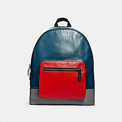 COACH F83281 West Backpack In Colorblock QB/AEGEAN MULTI