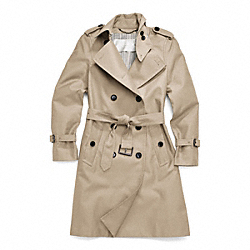 COACH F83342 - CLASSIC LONG TRENCH ONE-COLOR