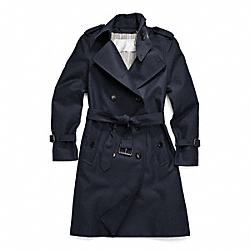 COACH F83342 - CLASSIC LONG TRENCH NAVY