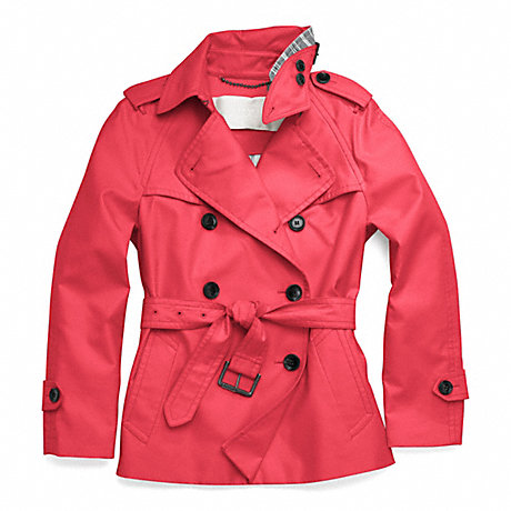 COACH f83349 CLASSIC SHORT TRENCH RED