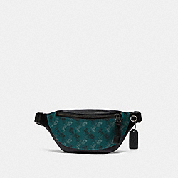 COACH F83411 - WARREN MINI BELT BAG WITH HORSE AND CARRIAGE PRINT QB/VIRIDIAN