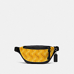 COACH F83411 Warren Mini Belt Bag With Horse And Carriage Print QB/YELLOW