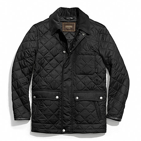 Coach F83611 Quilted Hacking Jacket Black Coach Men