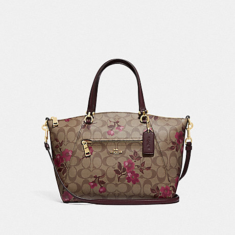 COACH F83628 PRAIRIE SATCHEL IN SIGNATURE CANVAS WITH VICTORIAN FLORAL PRINT IM/KHAKI-BERRY-MULTI