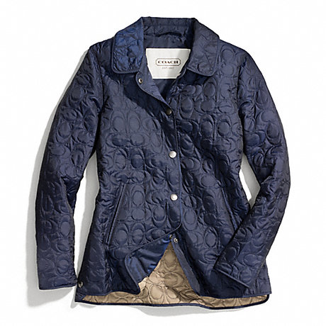 COACH F83637 - SIGNATURE C QUILTED HACKING JACKET - NAVY - COACH ... : coach quilted coat - Adamdwight.com
