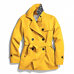 COACH SOLID SHORT TRENCH COAT - ONE COLOR - F83641