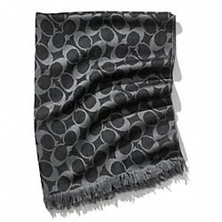 COACH F83650 Signature Wrap BLACK
