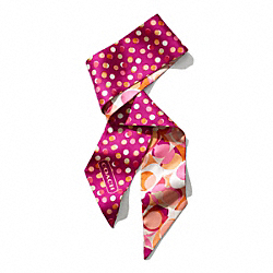 DAISY KALEIDOSCOPE PRINT PONYTAIL SCARF - f83667 - PINK MULTICOLOR