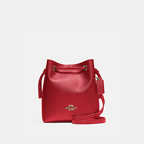 COACH F83718 LENA CROSSBODY IM/TRUE-RED