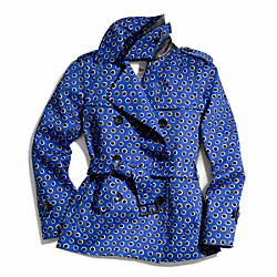 COACH POPPY DOT SHORT TRENCH COAT - ONE COLOR - F83785