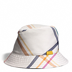 COACH F83809 - TATTERSALL FEDORA MULTICOLOR
