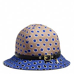 COACH F83810 4 Gore Dot Print Hat BLUE/MULTICOLOR