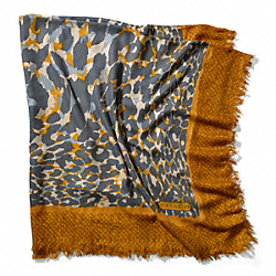 COACH F83825 Ocelot Square Shawl GOLD
