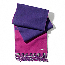 COACH F83829 Reversible Blanket Scarf VIOLET MARINE/MAGENTA