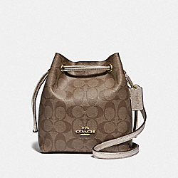 COACH F83856 - LENA CROSSBODY IN SIGNATURE CANVAS IM/KHAKI PLATINUM