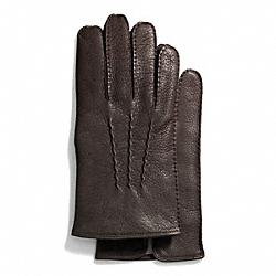COACH F83896 Deerskin Glove MAHOGANY