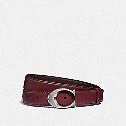 SIGNATURE BUCKLE BELT, 25MM - F83960 - SV/WINE OXBLOOD