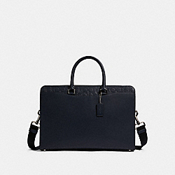 COACH F83961 Beckett Structured Brief With Signature Leather Detail QB/MIDNIGHT NAVY
