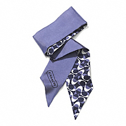 COACH F83971 Peyton Dream C Ponytail Scarf NAVY