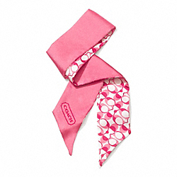 COACH F83971 Peyton Dream C Ponytail Scarf PINK