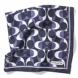 COACH F83972 Peyton Dream C 27 X 27 Scarf NAVY