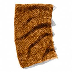 COACH F83982 Metallic Snake Print Wrap GOLD