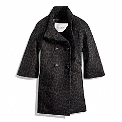 COACH F83986 - PARK OCELOT BRACELET SLEEVE COAT ONE-COLOR